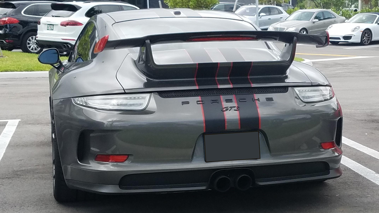 2012 2015 Porsche 911 991 Gt3 Style Rear Wing Spoiler