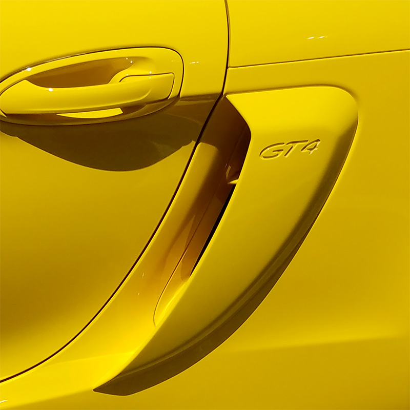 Air Scoops For Cars : Porsche cayman gt style side air scoop vents