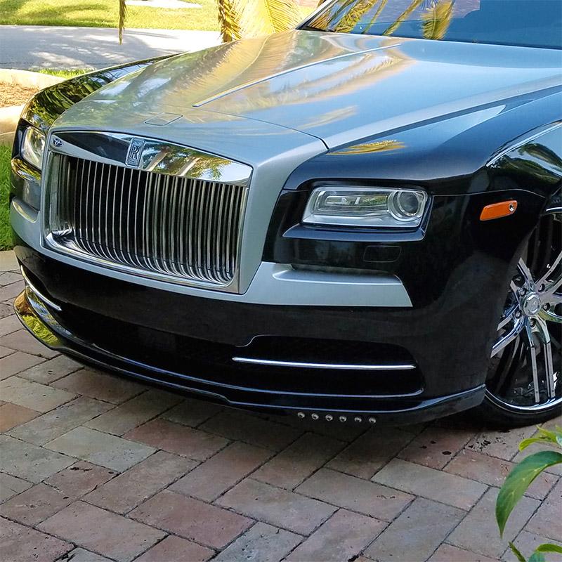 2016 Rolls Royce Wraith Camshaft: 2013-2016 Rolls-Royce Wraith Tesoro Front Lip Spoiler W/L.E.D
