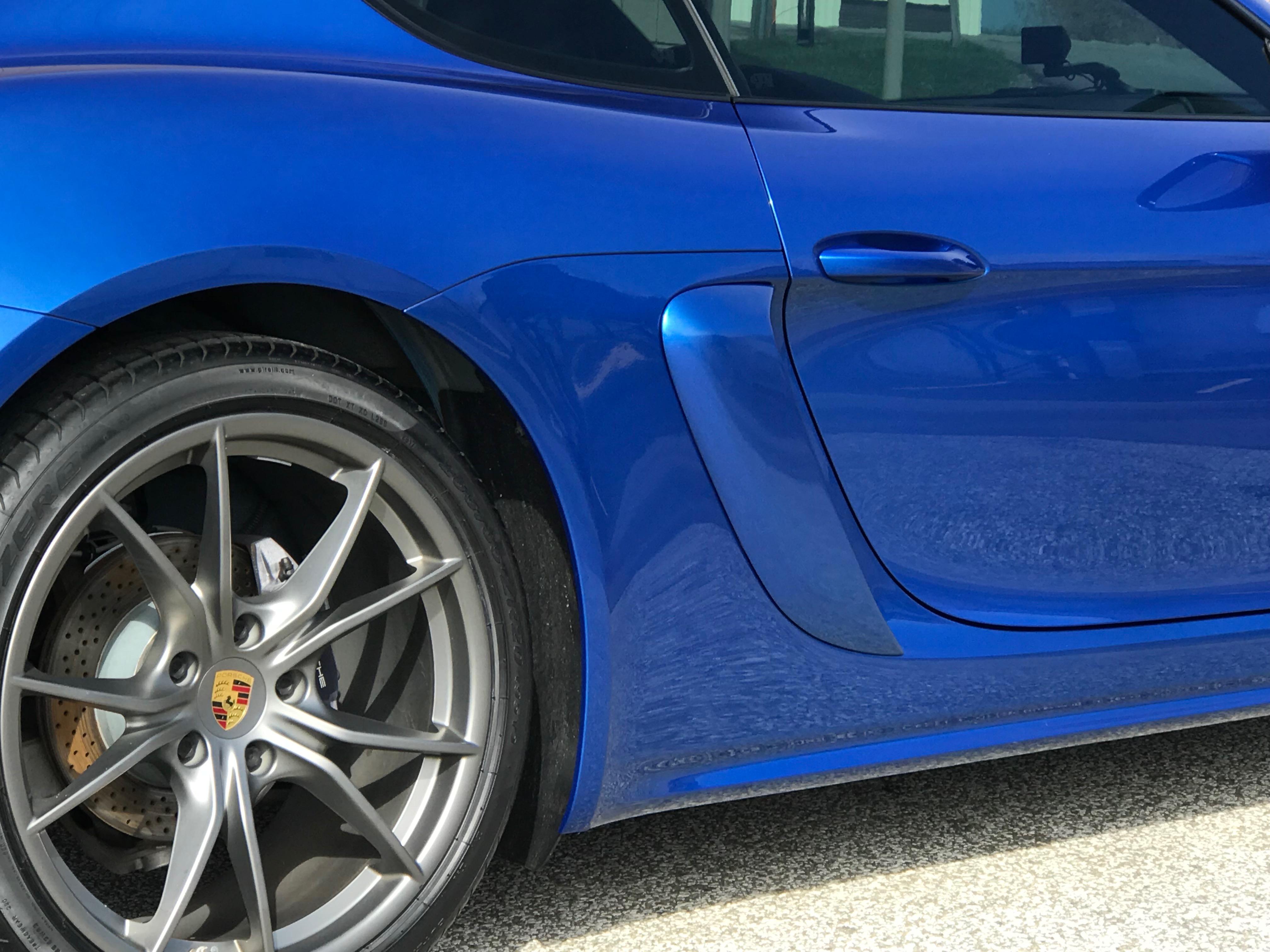 JC SPORTLINE Fits for Porsche 981 Boxster Carbon Fiber Air Intake Side Scoop Cover Fender Vents Trims 2013-2015 2pcs//Set