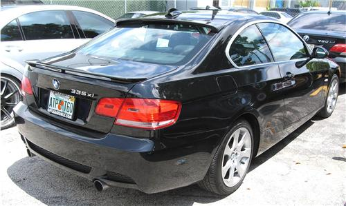 2007 2012 BMW 3 Series Coupe H Style Rear Roof Spoiler
