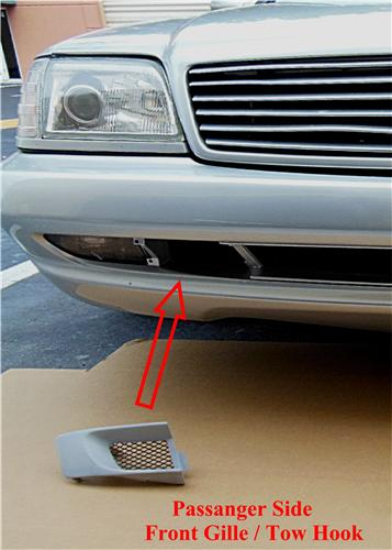 Mercedes R129 AMG tow hook covers plastic Reproductions