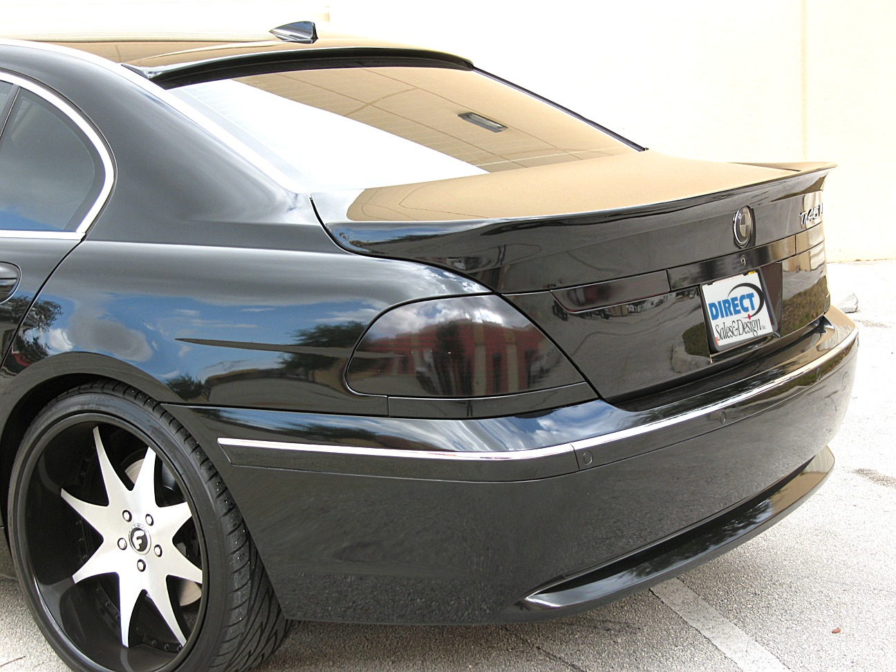 2002 2005 bmw 7 series alpina style rear lip spoiler. Black Bedroom Furniture Sets. Home Design Ideas