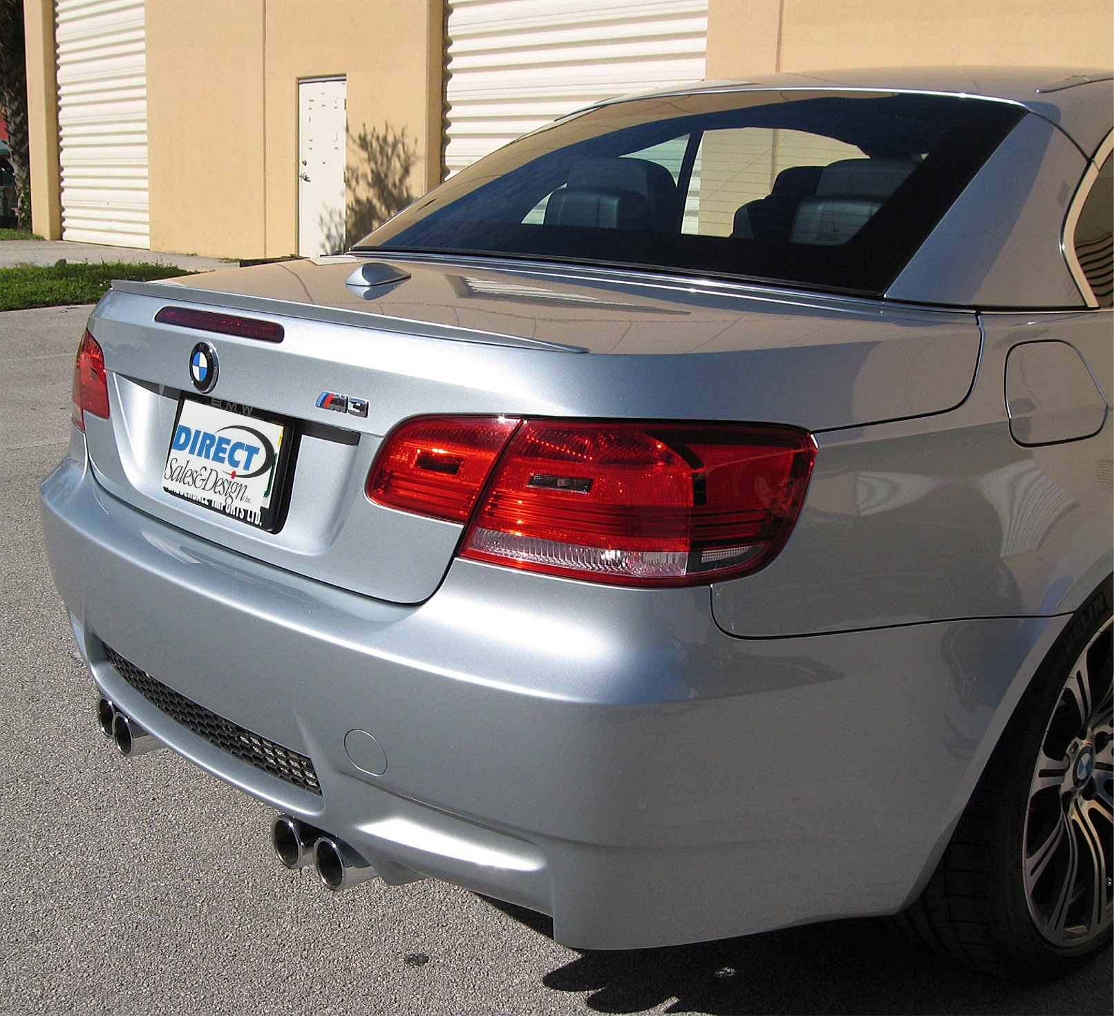 2007-2011 BMW 3-Series Convertible M3 Style Rear Lip Spoiler