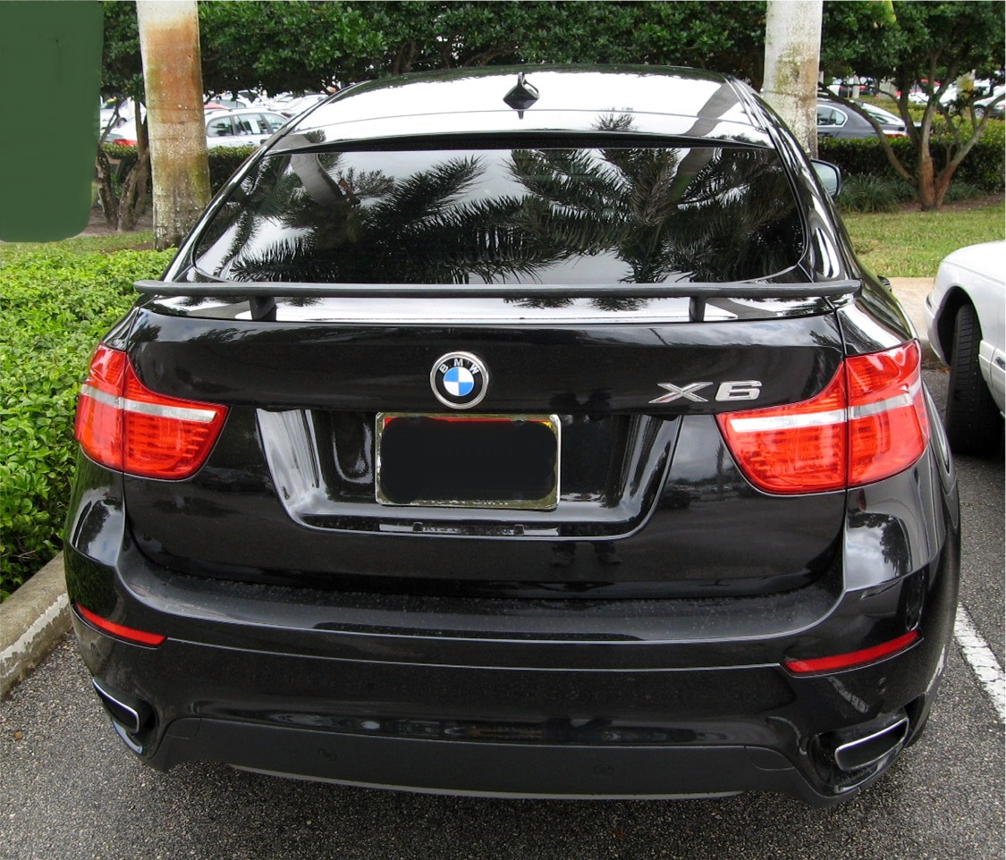 Bmw X6: 2008-2013 BMW X6 H-Style 2 Post Rear Wing Spoiler