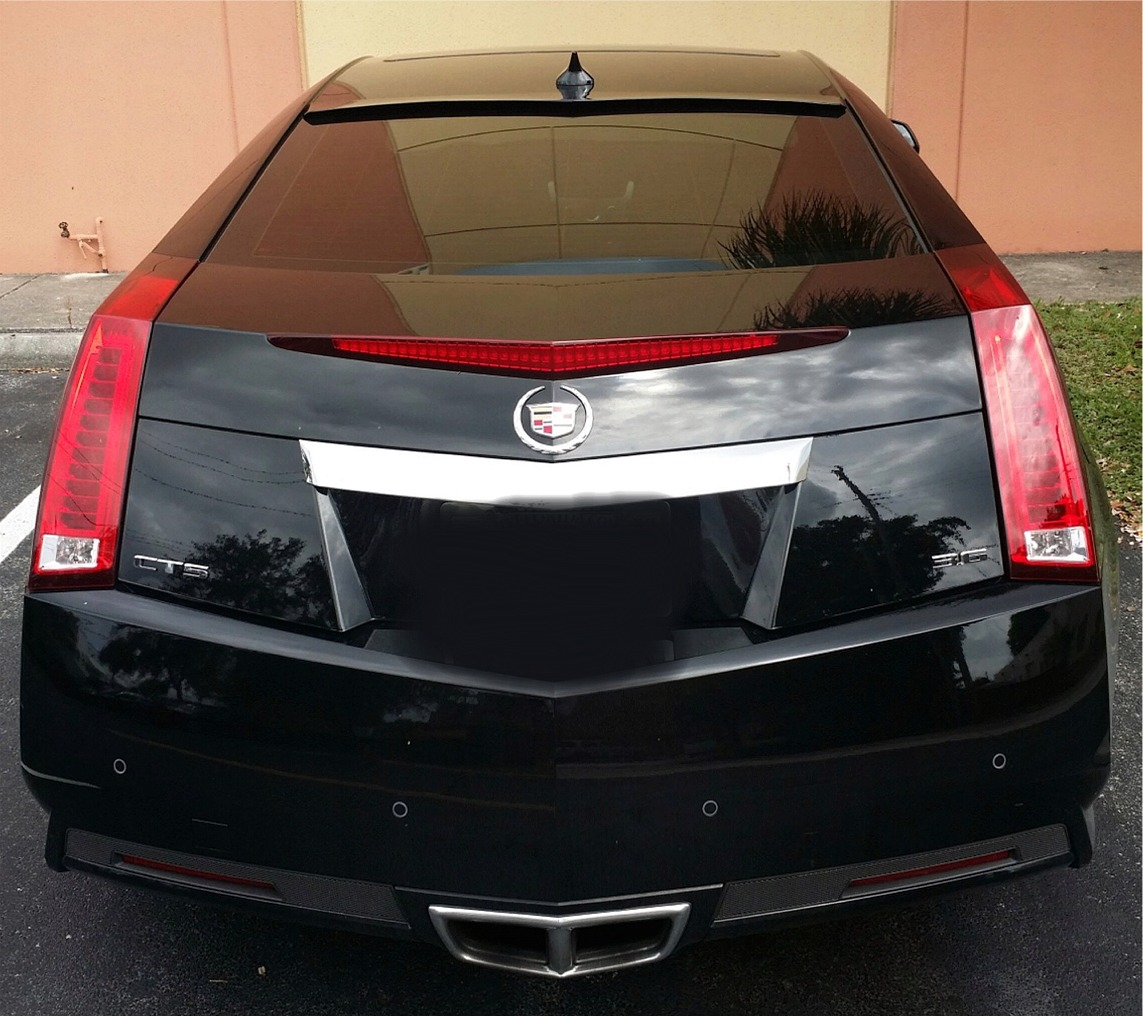 2011+ Cadillac CTS Coupe Tuner Style Rear Roof Glass Spoiler