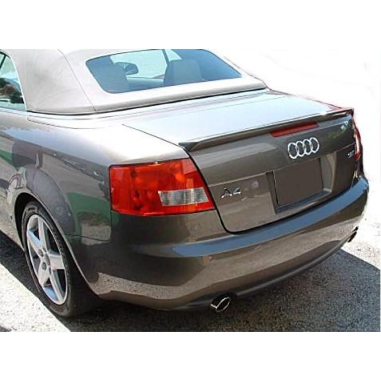 2003 2008 audi a4 convertible euro style rear lip spoiler rh directcartoys com Audi Rear Deck Lid Spoiler Audi S4 Spoiler