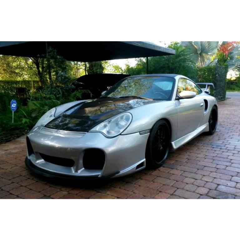 2002 2004 Porsche 911 996 Turbo Gtr Front Bumper W Intake Grille