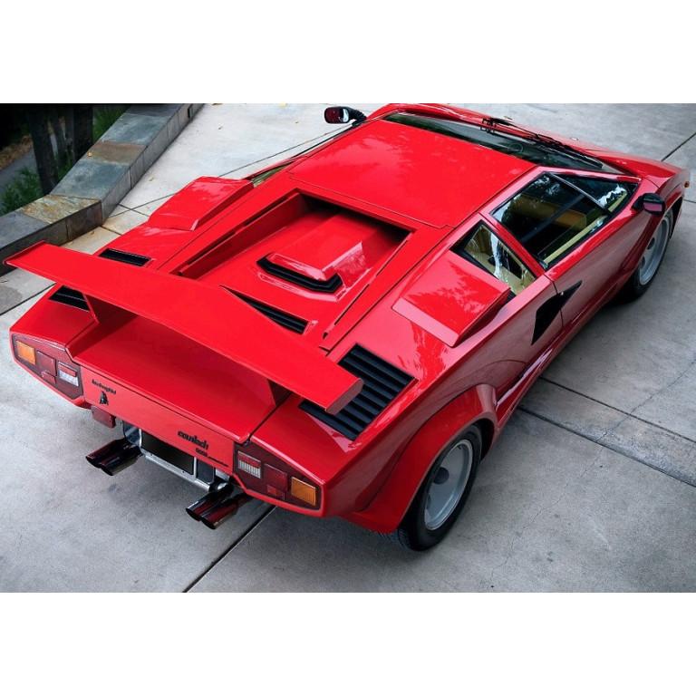 1986 1990 Lamborghini Countach Medium Factory Style Rear Wing