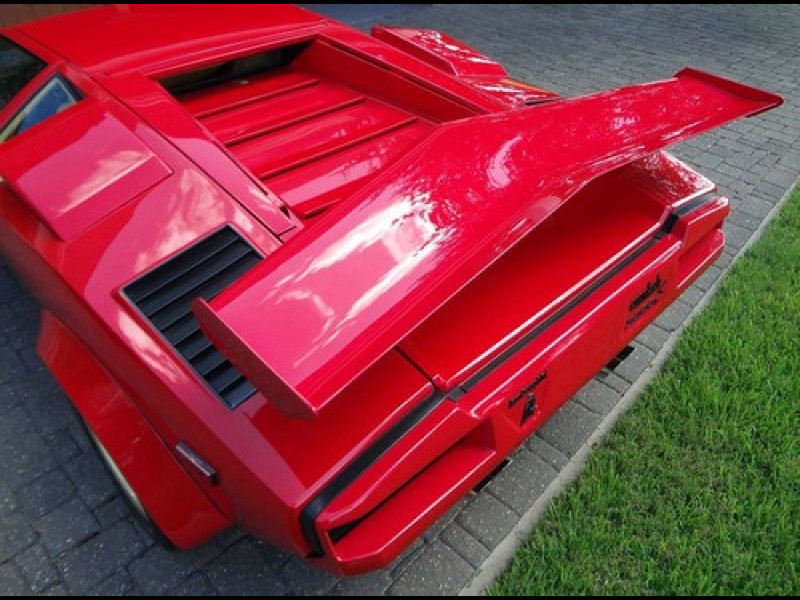 1974 1990 lamborghini countach factory style rear wing spoiler. Black Bedroom Furniture Sets. Home Design Ideas