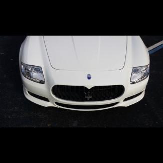 2009-2012 Maserati Quattroporte Euro Style 2pc Front Bumper Lip Spoilers