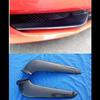 2010-2015 Ferrari 458 Italia 2pc Front Canards Bumper Trims (Set)