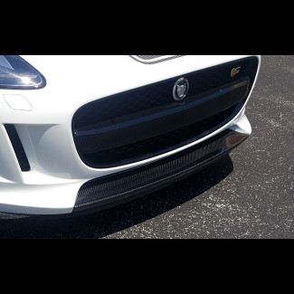 2014-2016 Jaguar F-Type Tesoro Front Bumper Center Lip - Carbon Fiber