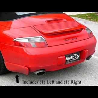 1997-2004 Porsche 911 / 996 Aero Cup Style 2pc Side Rear Bumper Skirts