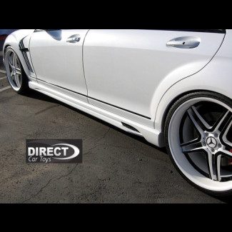 2007-2012 Mercedes S-Class W-Style Side Skirt (Set)