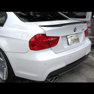 2005-2011 BMW 3-Series Sedan Sport Style Carbon Fiber Rear Lip Spoiler