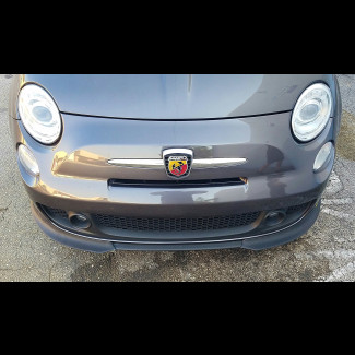 2007+ Fiat 500 Abarth Euro Style 2pc  Front Lip Spoilers