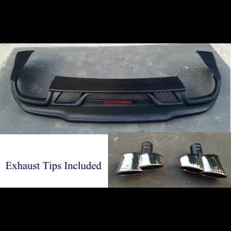 2014-2017 Maserati Ghibli W-Style Rear Bumper Skirt w/ Exhaust Tips