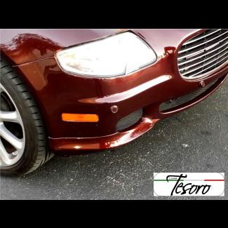 2004-2008 Maserati Quattroporte Euro Style 2pc Front Bumper Lip Spoilers