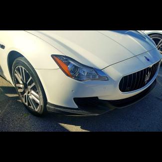 2013-2017 Maserati Quattroporte Euro Style 2pc Front Bumper Lip Spoilers