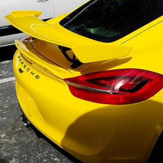 2013-2016 Porsche Cayman GT4 Style Dual Wing Spoiler Package