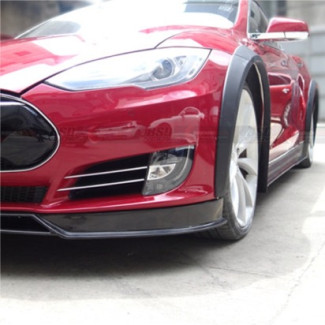 2012-2015 Tesla Model S RVZ Style 8pc Fender Flare Kit (Carbon Fiber)