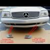 """1997-2002 Mercedes SL AMG  R129 Front Bumper Grill / Tow Hook """"SET"""""""