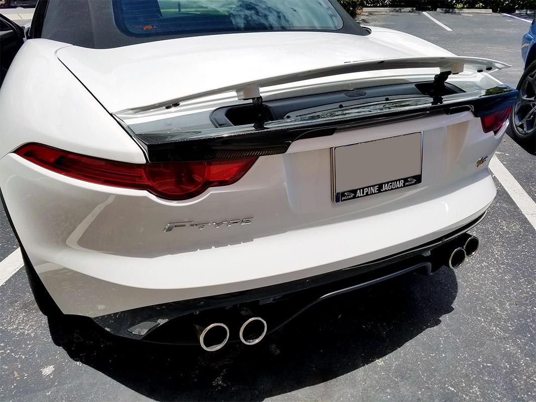 2014 2016 Jaguar F Type Convertible Tesoro Rear Trunk Lip
