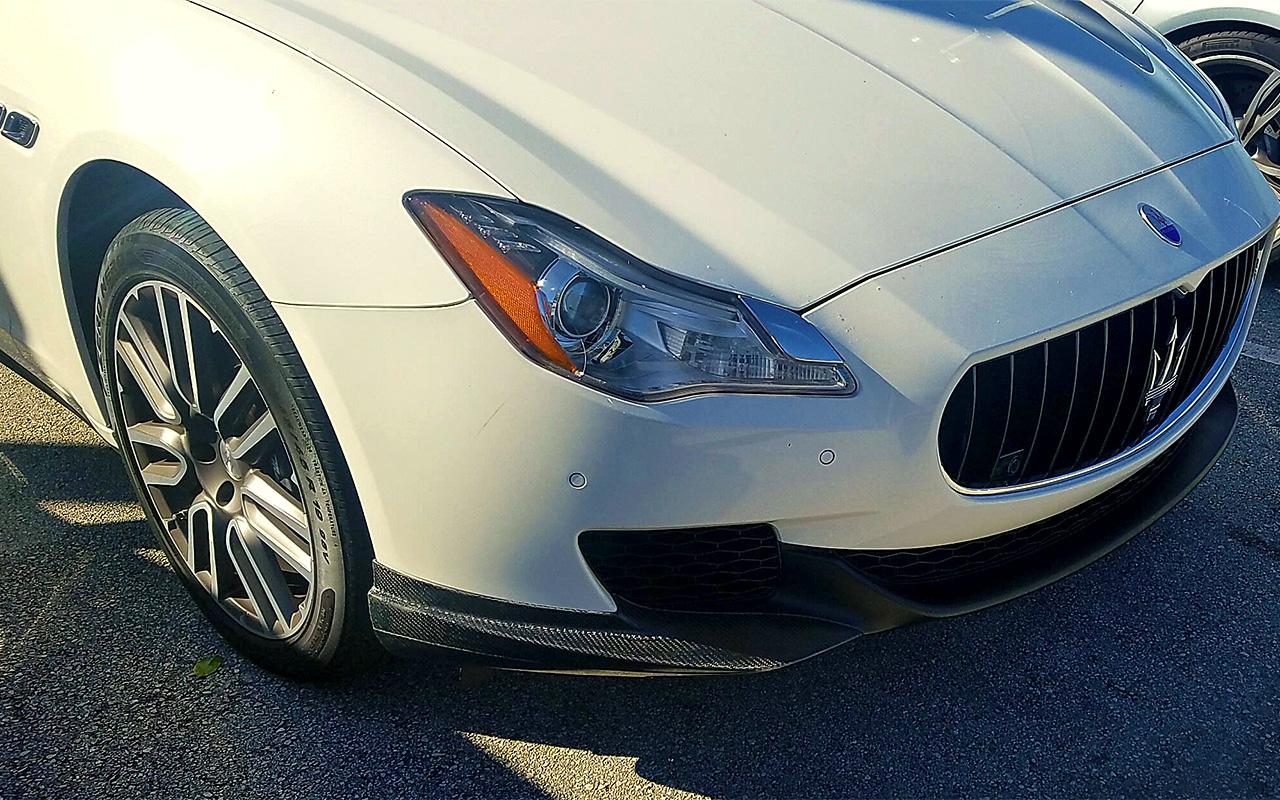 2013 2017 Maserati Quattroporte Euro Style 2pc Front Bumper Lip Spoilers Wiring Diagram 2010 Granturismo
