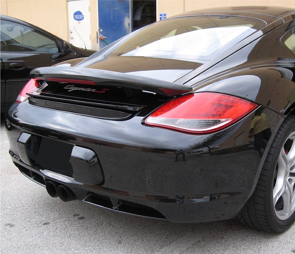2005 2012 porsche cayman aero style rear wing spoiler w. Black Bedroom Furniture Sets. Home Design Ideas