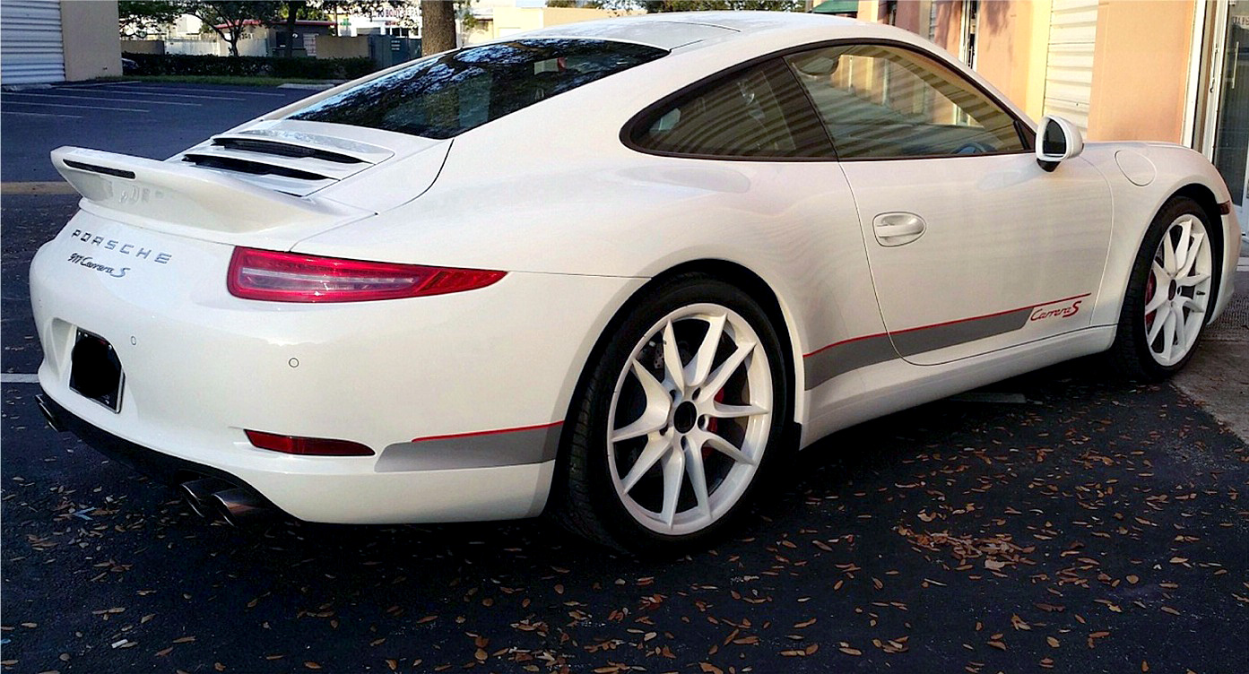 2012 2015 porsche 911 991 ducktail style rear wing spoiler. Black Bedroom Furniture Sets. Home Design Ideas