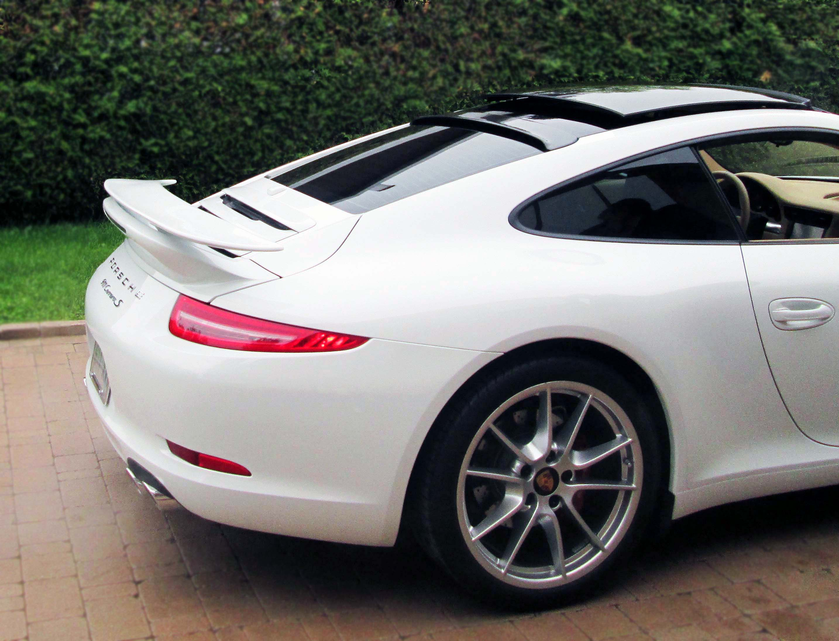 2012 2015 porsche 911 991 turbo style 2pc rear wing spoiler. Black Bedroom Furniture Sets. Home Design Ideas